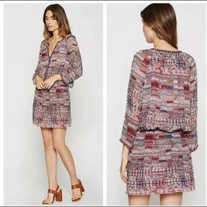 JOIE 100% silk dress mini blouson drawstring XS